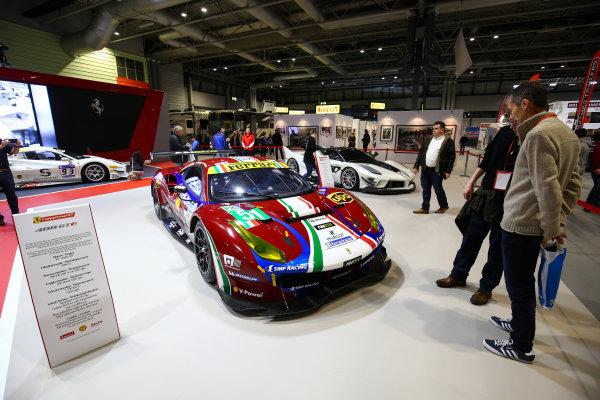 Autosport International Exhibition. National Exhibition Centre, Birmingham, UK. Sunday 14th January 2018. The Ferrari display.World Copyright: Mike Hoyer/JEP/LAT Images Ref: AQ2Y0221