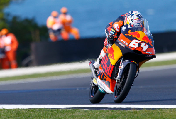 2017 Moto3 Championship - Round 16 Phillip Island, Australia. Friday 20 October 2017 Bo Bendsneyder, Red Bull KTM Ajo World Copyright: Gold and Goose / LAT Images ref: Digital Image 23287