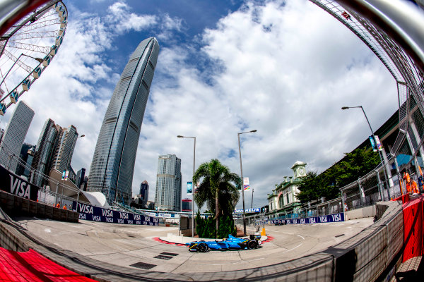2016/2017 FIA Formula E Championship. Hong Kong ePrix, Hong Kong, China. Sunday 9 October 2016. Sebastien Buemi (SUI), Renault e.Dams, Spark-Renault, Renault Z.E 16.  Photo: Zak Mauger/LAT/Formula E ref: Digital Image _L0U1287