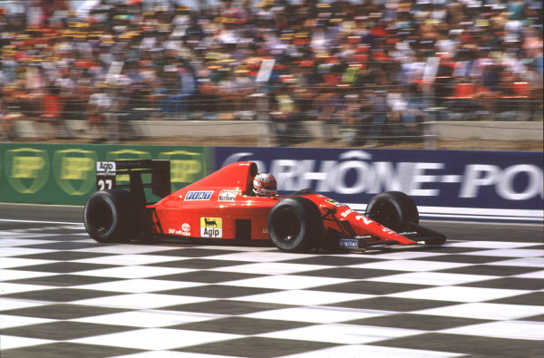 Paul Ricard, Le Castellet, France.7-9 July 1989.Nigel Mansell (Ferrari 640) 2nd position.  Ref: 89FRA15. World Copyright - LAT Photographic