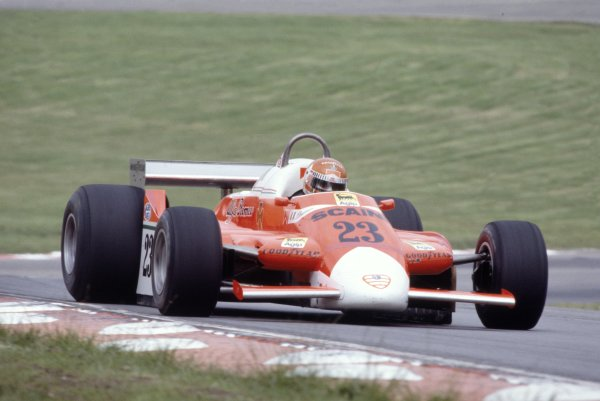 1980 British Grand Prix.Brands Hatch, Great Britain. 11-13 July 1980.Bruno Giacomelli (Alfa Romeo 179B), retired.World Copyright: LAT PhotographicRef: 35mm transparency 80GB29