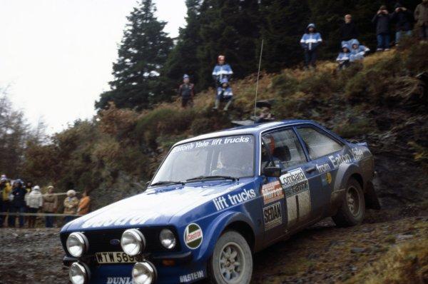 1979 World Rally Championship.Lombard RAC Rally, Great Britain. 18-21 November 1979.Hannu Mikkola/Arne Hertz (Ford Escort RS), 1st position.World Copyright: LAT PhotographicRef: 35mm transparency 79RALLY09