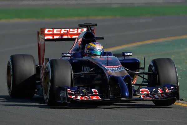 Jean-Eric Vergne (FRA) Scuderia Toro Rosso STR9. Formula One World Championship, Rd1, Australian Grand Prix, Practice, Albert Park, Melbourne, Australia, Friday 14 March 2014.