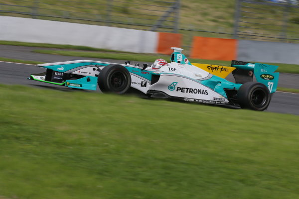2014 Super Formula Series. Fuji, Japan. 11th - 13th July 2014. Rd 3. Winner Kazuki Nakajima ( #37 TEAM TOM'S SF14 ) action. World Copyright: Yasushi Ishihara / LAT Photographic. Ref: 2014SF_Rd3_008.JPG
