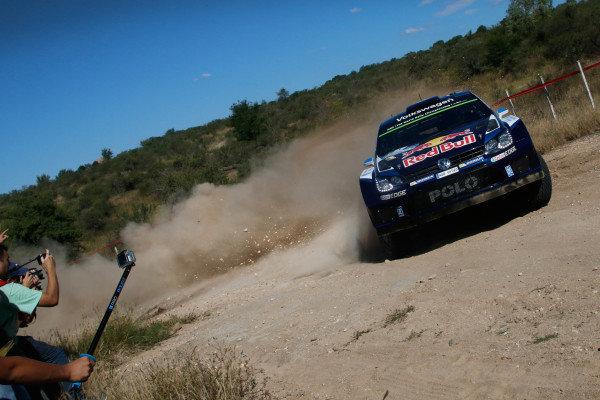 Sebastien Ogier (FRA) / Julien Ingrassia (FRA), Volkswagen Polo R WRC at World Rally Championship, Rd4, Rally Argentina, Preparations & Shakedown, Carlos Paz, Argentina, 22 April 2015.