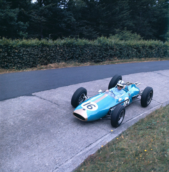 1962 German Grand Prix.Nurburgring, Germany.3-5 August 1962.Jack Brabham (Brabham BT3 Climax).Ref-62 GER MF01.World Copyright - LAT Photographic