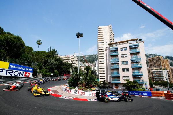 2017 FIA Formula 2 Round 3. Monte Carlo, Monaco. Friday 26 May 2017. Start of the Formula 2 Race Photo: Joe Portlock/FIA Formula 2. ref: Digital Image _L5R8633