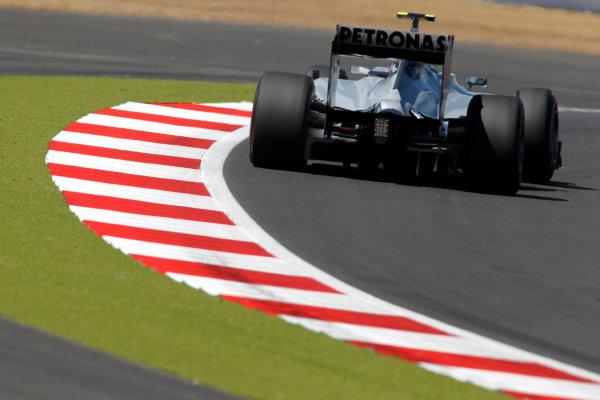 Silverstone, Northamptonshire, England9th July 2010Nico Rosberg, Mercedes GP W01. Action. World Copyright: Andrew Ferraro/LAT Photographicref: Digital Image _Q0C6454