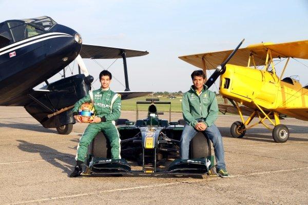 Nabil Jeffri (MAL) Lotus and Fairuz Fauzy (MAL) Lotus.Lotus F1 Aero Testing, Duxford Aerodrome, Duxford, England, 1 September 2010.