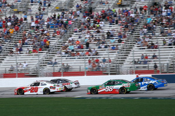 NASCAR Xfinity Series Rinnai 250 Atlanta Motor Speedway, Hampton, GA USA Saturday 24 February 2018 Christopher Bell, Joe Gibbs Racing, Ruud Toyota Camry leads Joey Logano, Team Penske, Discount Tire Ford Mustang, Kevin Harvick, Stewart-Haas Racing with Biagi-Denbeste Racing, Hunt Brothers Pizza Ford Mustang and Kyle Benjamin, Joe Gibbs Racing, Peak Antifreeze & Coolant Toyota Camry World Copyright: Lesley Ann Miller LAT Images