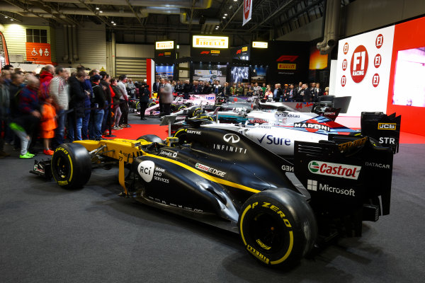 Autosport International Exhibition. National Exhibition Centre, Birmingham, UK. Sunday 14th January 2018. The F1 Racing Stand.World Copyright: Mike Hoyer/JEP/LAT Images Ref: AQ2Y9735