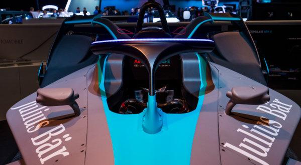 2017/2018 FIA Formula E Championship. Geneva Motor Show Tuesday 6 March 2018. The FIA Formula-E Gen2 car is unveiled. Photo: Sam Bloxham/LAT/Formula E ref: Digital Image _W6I3935