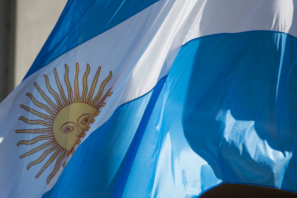 2015 Formula E  Buenos Aires e-Prix, Argentina Friday 5 February 2016. The Argentinian flag Photo: Sam Bloxham/FIA Formula E/LAT ref: Digital Image _SBL9307