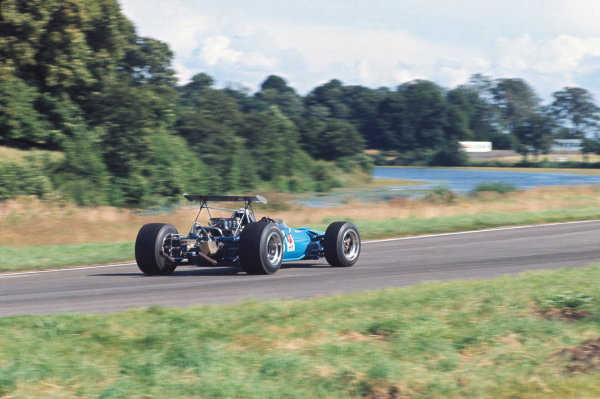 1968 International Gold Cup.  Oulton Park, England. 17th August 1968.  Jackie Stewart, Matra MS10 Ford, 1st position.  Ref: 68GC03. World Copyright: LAT Photographic