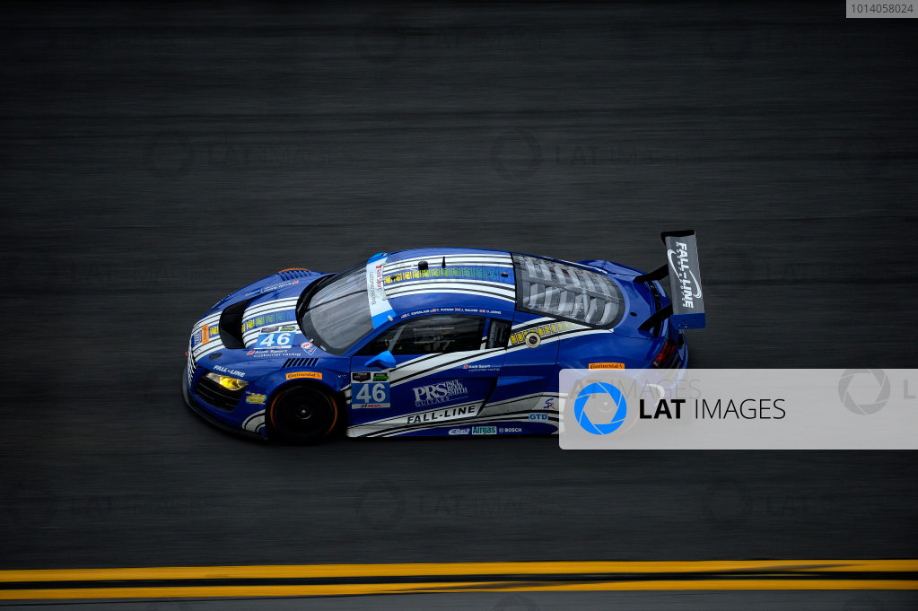 3-5 January, 2014, Daytona Beach, Florida USA #46, Audi, R8 LMS, Charles Espenlaub, Charlie Putman, James Walker, Oliver Jarvis @2014, Richard Dole LAT PHOTO USA