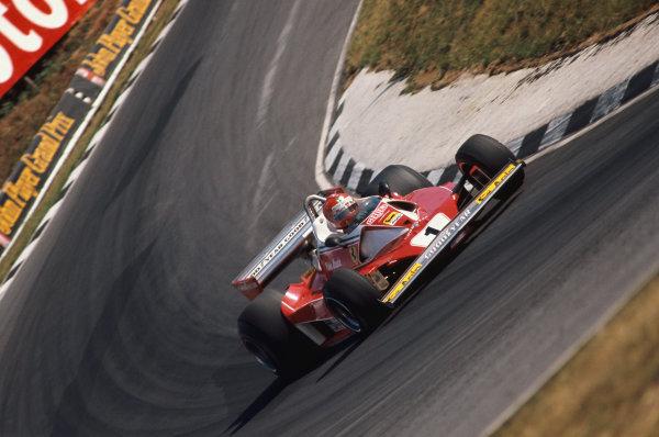 Brands Hatch, England. 16th - 18th July 1976.  Niki Lauda (Ferrari 312T2), 1st position, action.  World Copyright: LAT Photographic.  Ref: 76 GB 26.