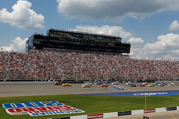18 August, 2013, Brooklyn, Michigan USA Early race restart ©2013, Todd Davis LAT Photo USA