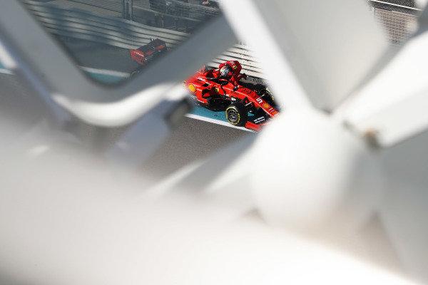 Sebastian Vettel, Ferrari SF90, climbs from his car after stopping on track