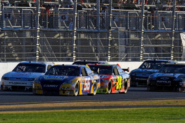 14 February, 2010, Daytona Beach, Florida USA USAMartin Truex,Jr. (#56) leads the field up the back straight.©F. Peirce Williams 2010 USALAT Photographic
