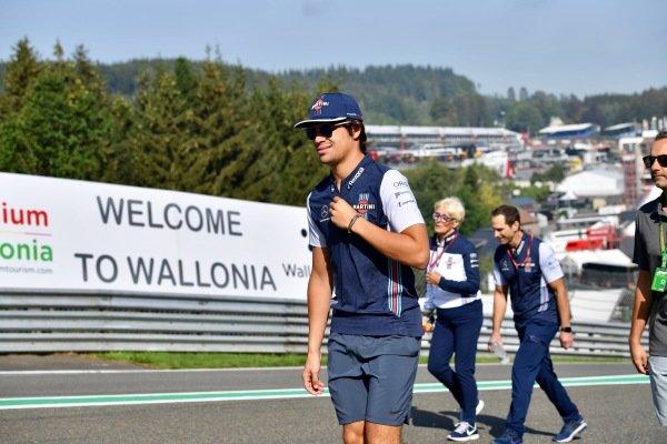 Lance Stroll, Williams Racing walks the trac