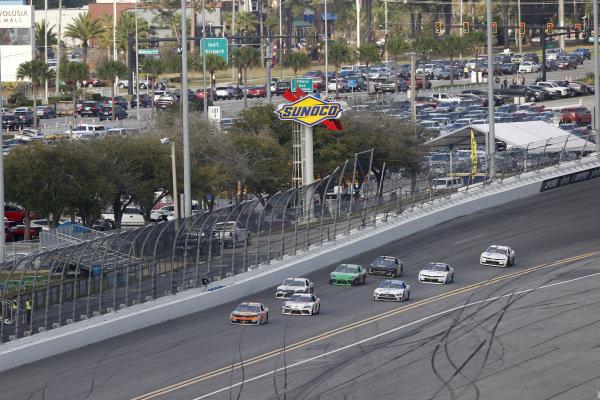 #9: Noah Gragson, JR Motorsports, Chevrolet Camaro, #20: Harrison Burton, Joe Gibbs Racing, Toyota Supra Dex Imaging, #66: Timmy Hill, Motorsports Business Management, Ford Mustang VSI Racing / RoofClaim.com