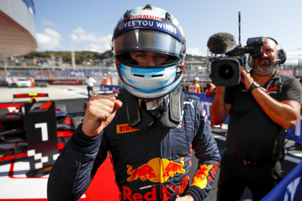 SOCHI AUTODROM, RUSSIAN FEDERATION - SEPTEMBER 29: Juri Vips (EST, Hitech Grand Prix) during the Sochi at Sochi Autodrom on September 29, 2019 in Sochi Autodrom, Russian Federation. (Photo by Carl Bingham / LAT Images / FIA F3 Championship)