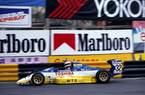 Michael Schumacher (GER) WTS Motorsport), won leg one but only managed 13th overall. 36th Macau Formula Three Grand Prix, Macau, Hong Kong, 26 November 1989