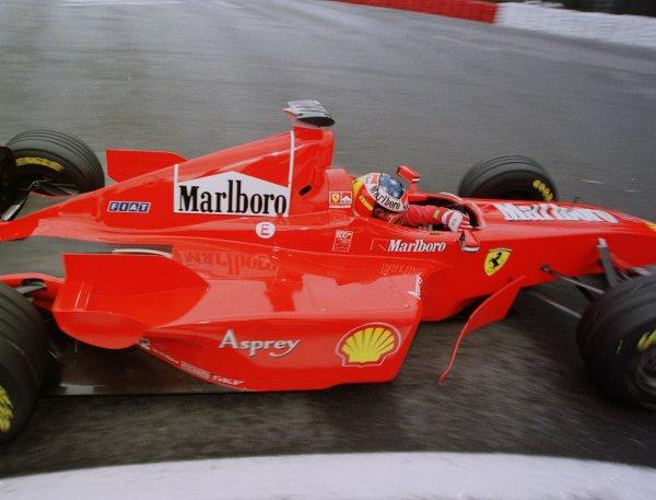 1998 Belgian Grand Prix.Spa-Francorchamps, Belgium. 28-30 August 1998.Michael Schumacher (Ferrari F300).World Copyright - Steve Etherington/LAT Photographic