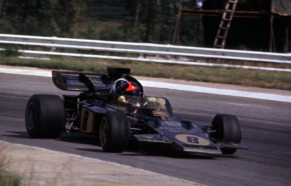 1972 South African Grand Prix.Kyalami, South Africa.2-4 March 1972.Emerson Fittipaldi (Lotus 72D Ford) 2nd position.Ref-72 SA 26.World Copyright - LAT Photographic