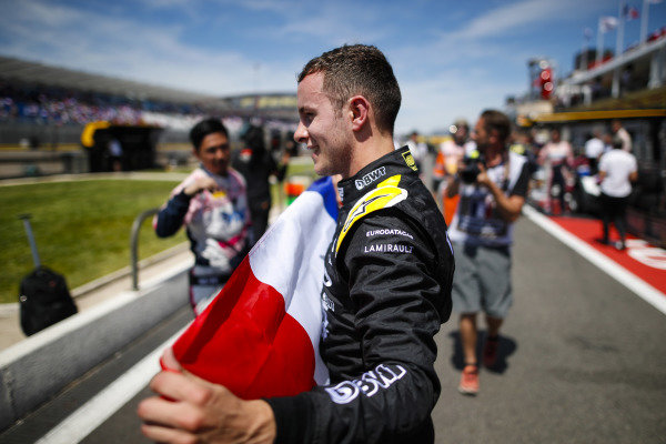 Anthoine Hubert (FRA, BWT ARDEN), celebrates victory in in the pit lane