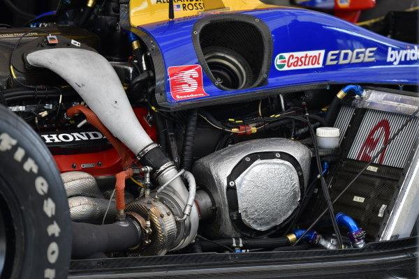 Alexander Rossi, Andretti Autosport Honda, garage, turbo