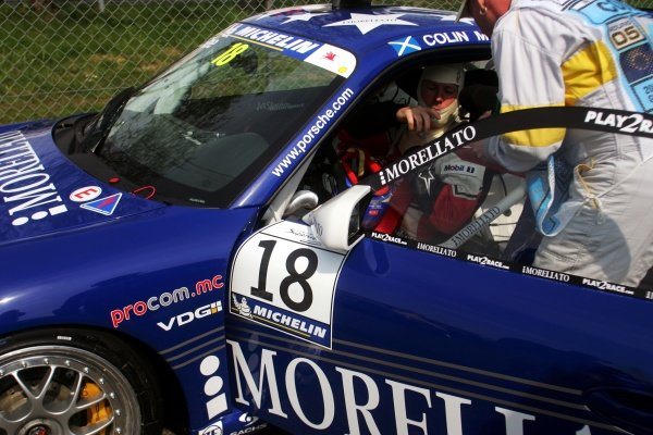 Colin McRae (GBR) is taking part in the Porsche Supercup Race. Formula One World Championship, Rd 5, European Grand Prix, Qualifying Day, Nurburgring, Germany, 6 May 2006.  DIGITAL IMAGE