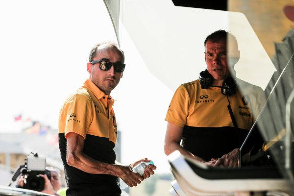 Hungaroring, Budapest, Hungary.  Tuesday 01 August 2017. Robert Kubica, Renault Sport F1. World Copyright: Zak Mauger/LAT Images  ref: Digital Image _54I5990