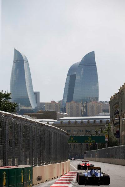 Baku City Circuit, Baku, Azerbaijan. Saturday 18 June 2016. Marcus Ericsson, Sauber C35 Ferrari. World Copyright: Glenn Dunbar/LAT Photographic ref: Digital Image _W2Q8231
