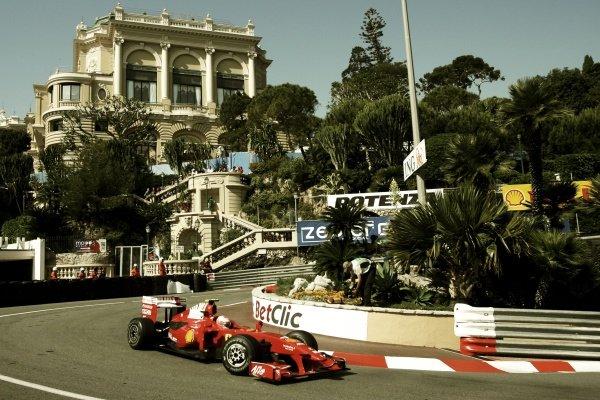 Kimi Raikkonen (FIN) Ferrari F2009. Formula One World Championship, Rd 6, Monaco Grand Prix, Practice Day, Monte-Carlo, Monaco, Thursday 21 May 2009.