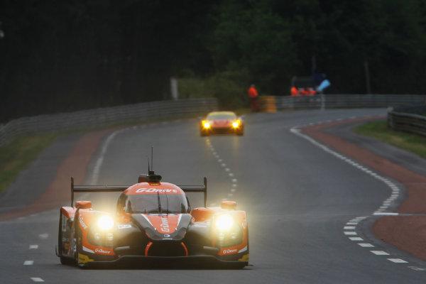 2015 Le Mans 24 Hours Test Day, Le Mans, France. 31st May 2015. Romain Rusinov / Julien Canal / Sam Bird G-Drive Racing Ligier JS P2 Nissan. World Copyright: Ebrey / LAT Photographic.