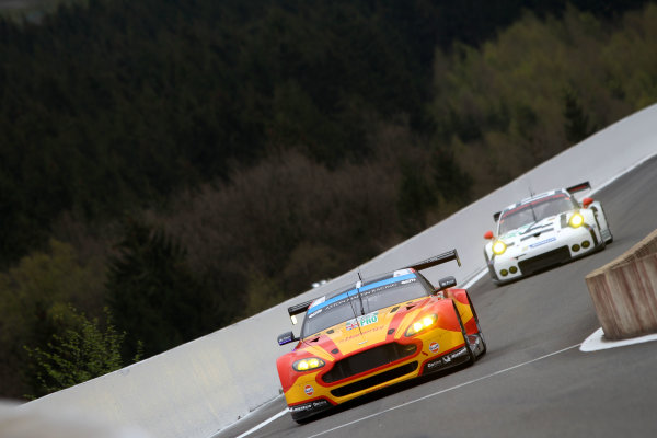 2015 FIA World Endurance Championship, Spa-Francorchamps, Belgium. 30th April - 2nd May 2015. Alex MacDowall / Fernando Rees / Richie Stanaway Aston Martin Racing Aston Martin Vantage V8. World Copyright: Ebrey / LAT Photographic.