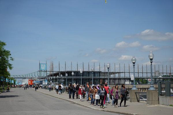 Circuit Gilles Villeneuve, Montreal, Canada. Wednesday 3 June 2015. People at Vieux Port in Montreal. World Copyright: Glenn Dunbar/LAT Photographic. ref: Digital Image DSC00417