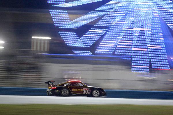 24-27 January, 2013, Daytona Beach, Florida USA The #0 Porsche of Henrique Cisneros, Sean Edwards, Kuba Giermaziak and Patrick Pilet in action during night practice. ©2013, R D. Ethan LAT Photo USA.