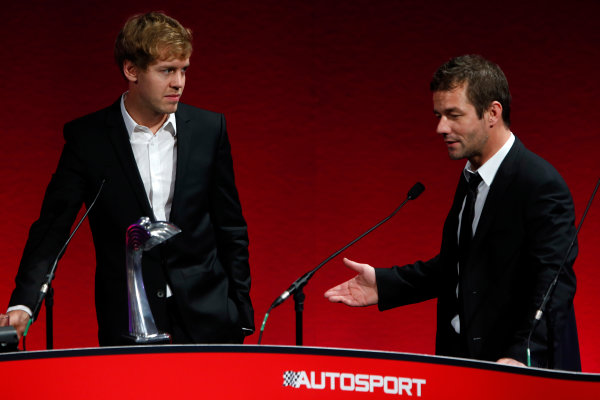 Sunday  Sebastien Vettel, winner of The International Racing Driver award with Sebatsien Loeb. World Copyright:Glenn Dunbar/  ref: Digital Image _89P0939