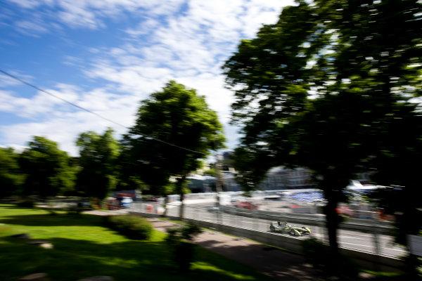 2014/2015 FIA Formula E Championship. Moscow ePrix, Moscow, Russia. Saturday 6 June 2015 Antonio Garcia (SPA)/China Racing - Spark-Renault SRT_01E. Photo: Zak Mauger/LAT/Formula E ref: Digital Image _L0U0662