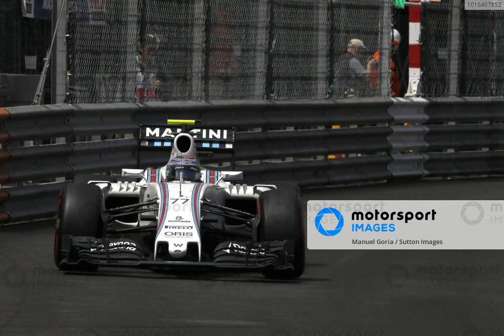 Valtteri Bottas (FIN) Williams FW38 at Formula One World Championship, Rd6, Monaco Grand Prix, Race, Monte-Carlo, Monaco, Sunday 29 May 2016.