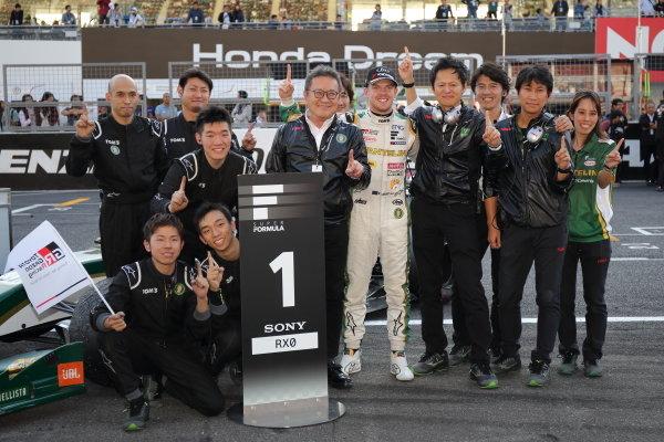 Winner 2nd position & 2019 driver's champion Nick Cassidy ( #37 VANTELIN TEAM TOM'S ) with TOM'S staff