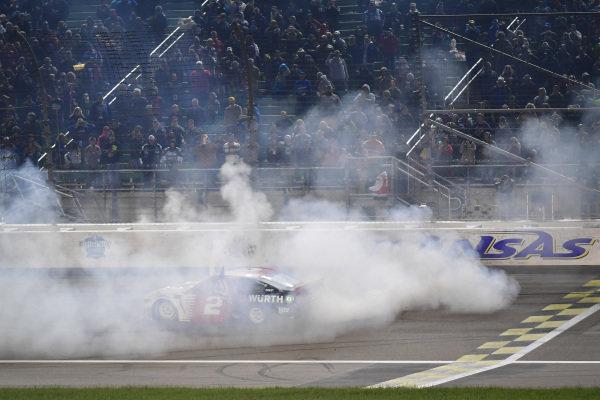 #2: Brad Keselowski, Team Penske, Ford Mustang Wurth victory celebration