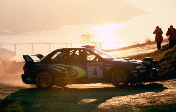 WRC Monte Carlo 2000The 3rd position Subaru of Juha Kankkunen in action.Photo: McKlein/LATTel: +44 (0)181 251 3000Fax: +44 (0)181 251 3001Somerset House, Somerset Road, Teddington, Middlesex, United Kingdon. TW11 8RU