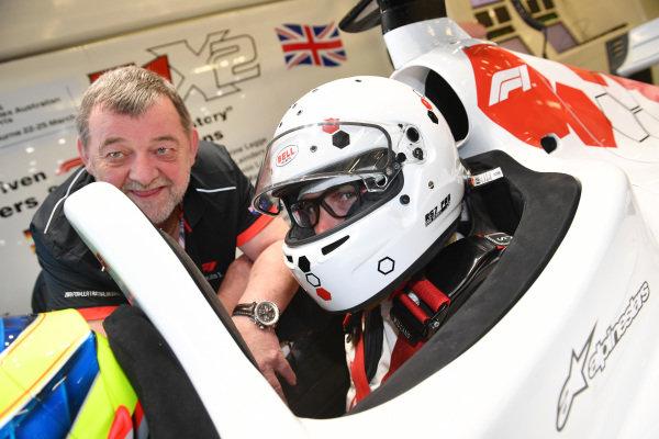 Paul Stoddart (AUS) and F1 Experiences 2-Seater passenger at Formula One World Championship, Rd1, Australian Grand Prix, Preparations, Melbourne, Australia, Thursday 22 March 2018.