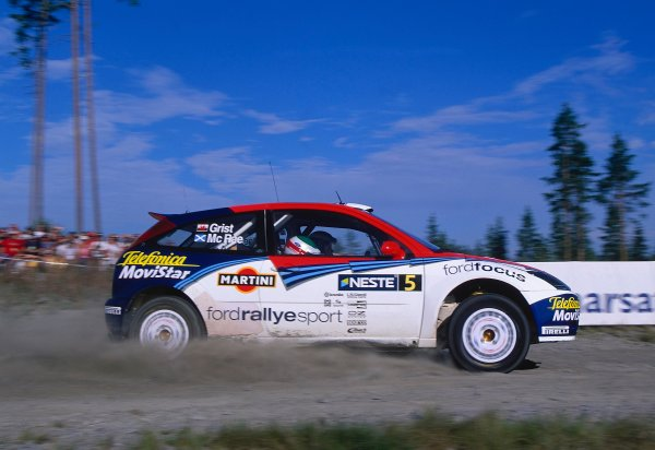 2002 World Rally ChampionshipNeste Rally of Finland. 8th - 11th August 2002.Colin McRae/Nicky Grist, Ford Focus RS WRC, action.World Copyright: McKlein/LAT Photographicref: 35mm Image A06