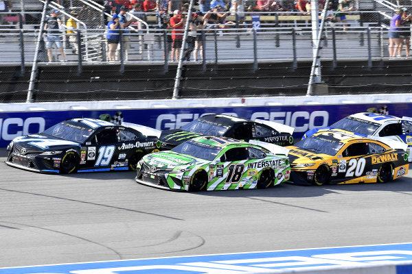#19: Martin Truex Jr., Joe Gibbs Racing, Toyota Camry Auto-Owners Insurance/Martin Truex Jr. 500th Start, \c18, and #20: Erik Jones, Joe Gibbs Racing, Toyota Camry DeWalt