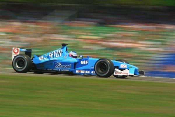 2001 German Grand PrixHockenheim, Germany. 27th July 2001Jenson Button, Benetton Renault B201, action.World Copyright - LAT PhotographicRef: 9 MB Digital File Only
