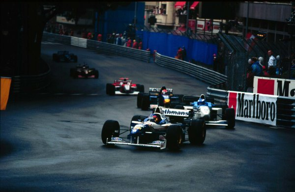 Monaco Grand Prix.Monte Carlo, Monaco.16-19 May 1996Jacques Villeneuve (Williams FW18 Renault).World Copyright - LAT Photographic